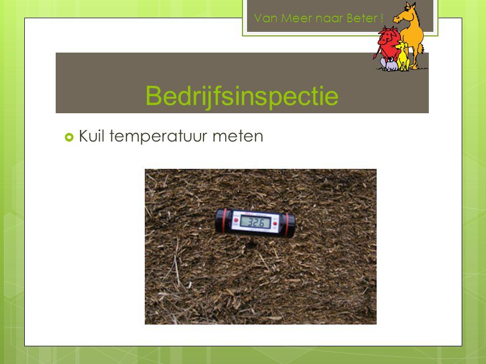 Bedrijfsinspectie  Kuil temperatuur meten Van Meer naar Beter !