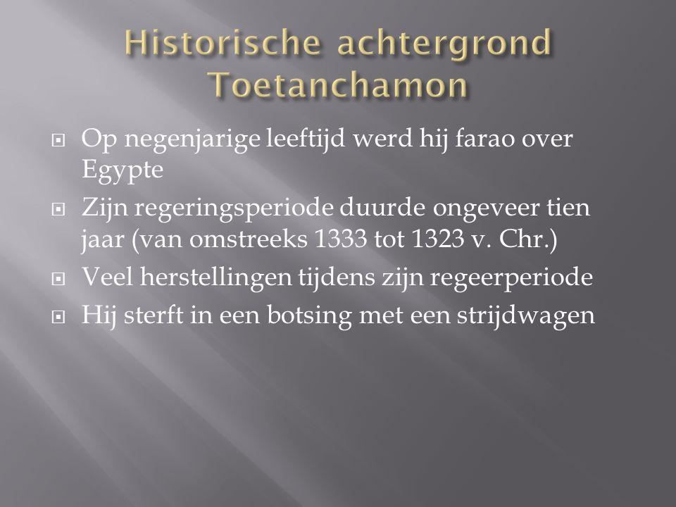  Op negenjarige leeftijd werd hij farao over Egypte  Zijn regeringsperiode duurde ongeveer tien jaar (van omstreeks 1333 tot 1323 v. Chr.)  Veel he