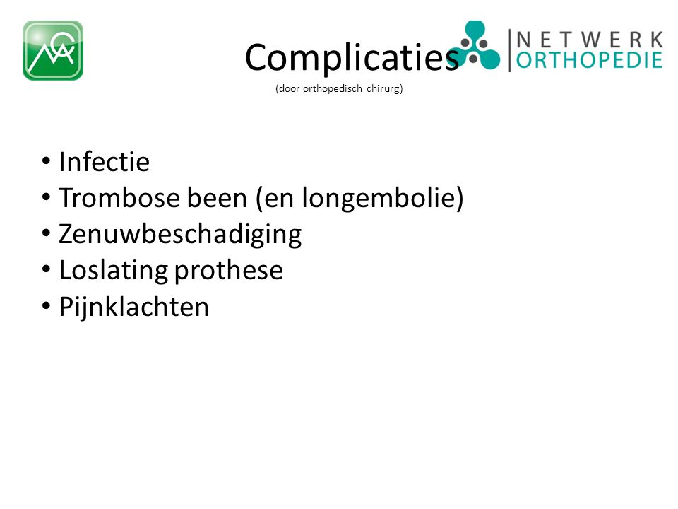 Informatie Folder http://mcabeheer.idasweb1.nl/Portals/1/brochures/mca/orthopedie/141337_ort_een%20hemi-knieprothese_2011_v2.pdf ) http://mcabeheer.idasweb1.nl/Portals/1/brochures/mca/orthopedie/141337_ort_een%20hemi-knieprothese_2011_v2.pdf Website http://ww.mca.nl en http://www.orthopediealkmaar.nl http://ww.mca.nlhttp://www.orthopediealkmaar.nl App Netwerk Orthopedie http://ww.netwerk-orthopedie.nl http://ww.netwerk-orthopedie.nl Landelijk Implantaten register http://ww.lroi.nl http://ww.lroi.nl