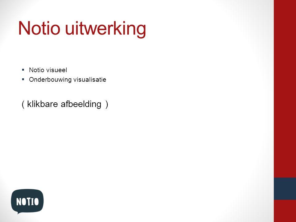 Notio uitwerking  Notio visueel  Onderbouwing visualisatie ( klikbare afbeelding )