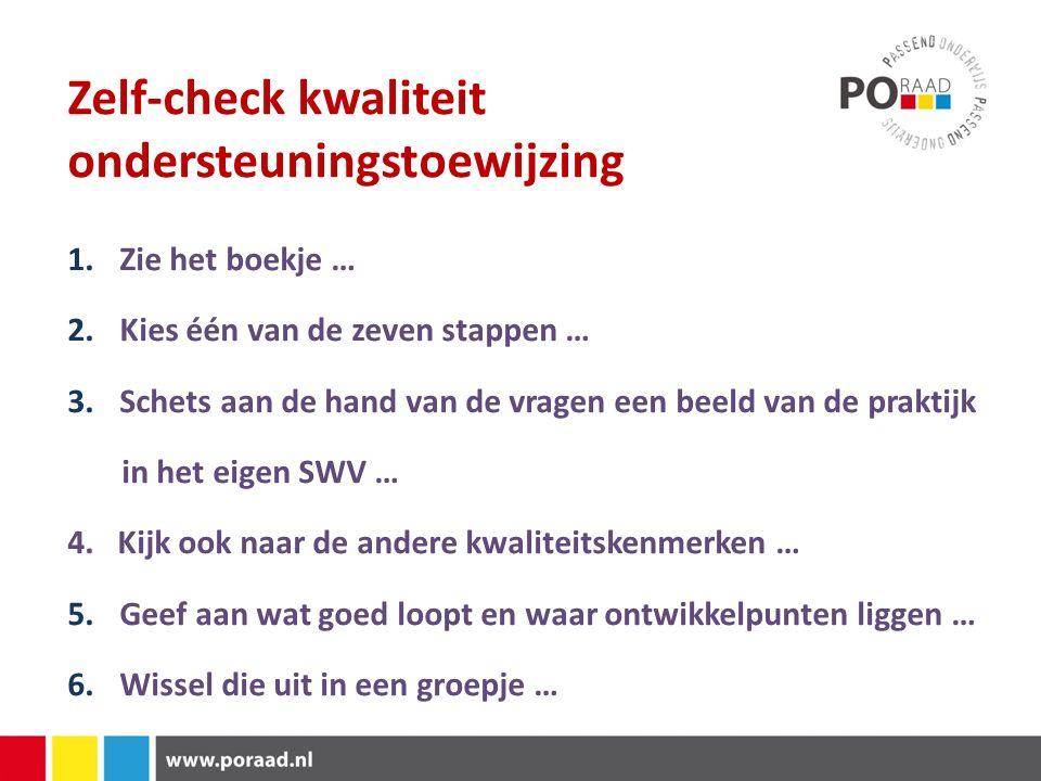 Brochure 1.Op de tafels in de centrale ruimte 2.Ook digitaal beschikbaar via website PO-raad 3.Praktijktoets of stresstest focust hier ook op Aanvragen via: ondersteuningpassendonderwijs@poraad.nl