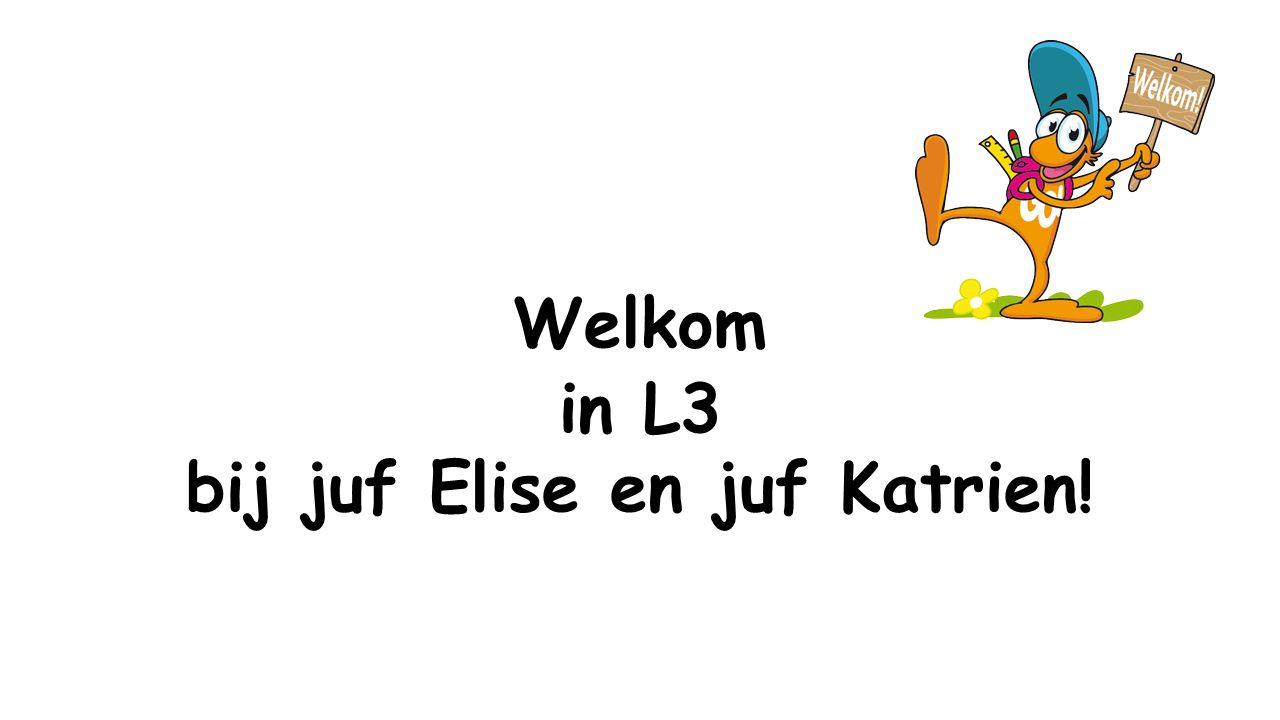 Welkom in L3 bij juf Elise en juf Katrien!