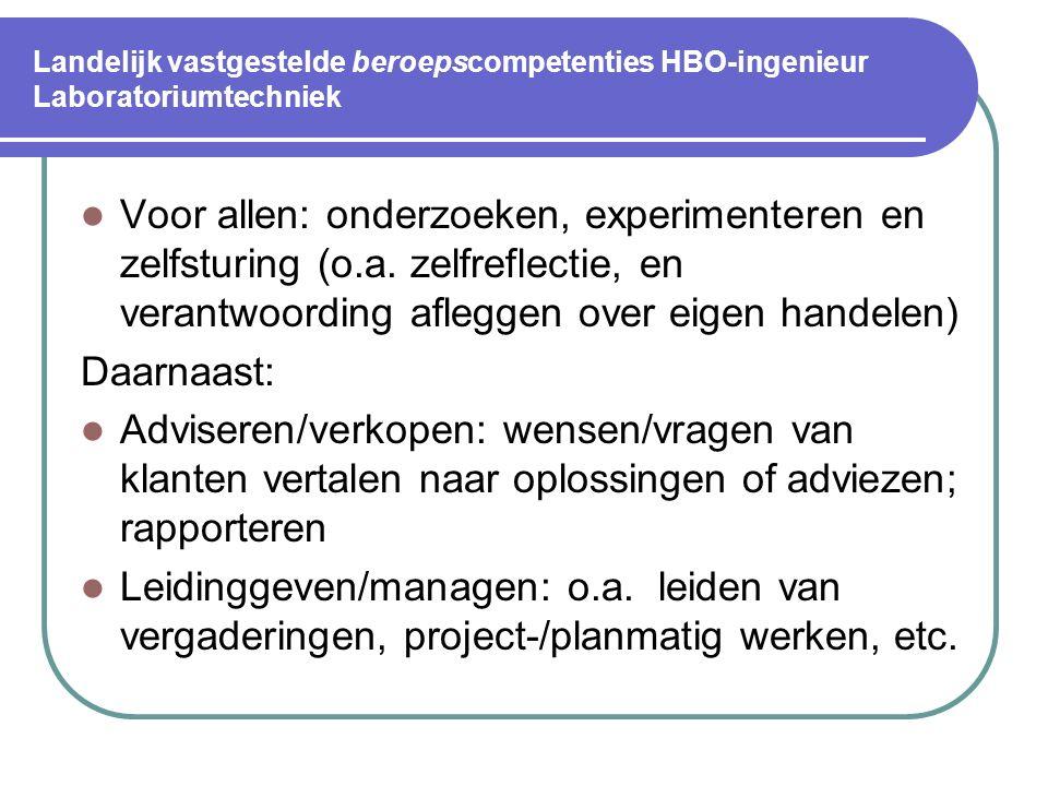 Landelijk vastgestelde competenties op gebied van Technisch HBO (niet beroeps-specifiek) Segment sociaal-communicatief: 2. Leiding geven Op basis van