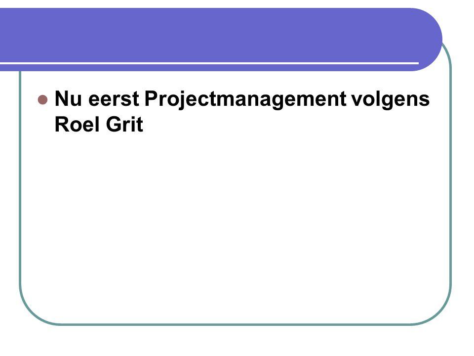 Projectmanagement algemeen De aanpak van het project gebeurt in fasen om de beheersbaarheid en overzichtelijkheid te bevorderen:  Specificatiefase 