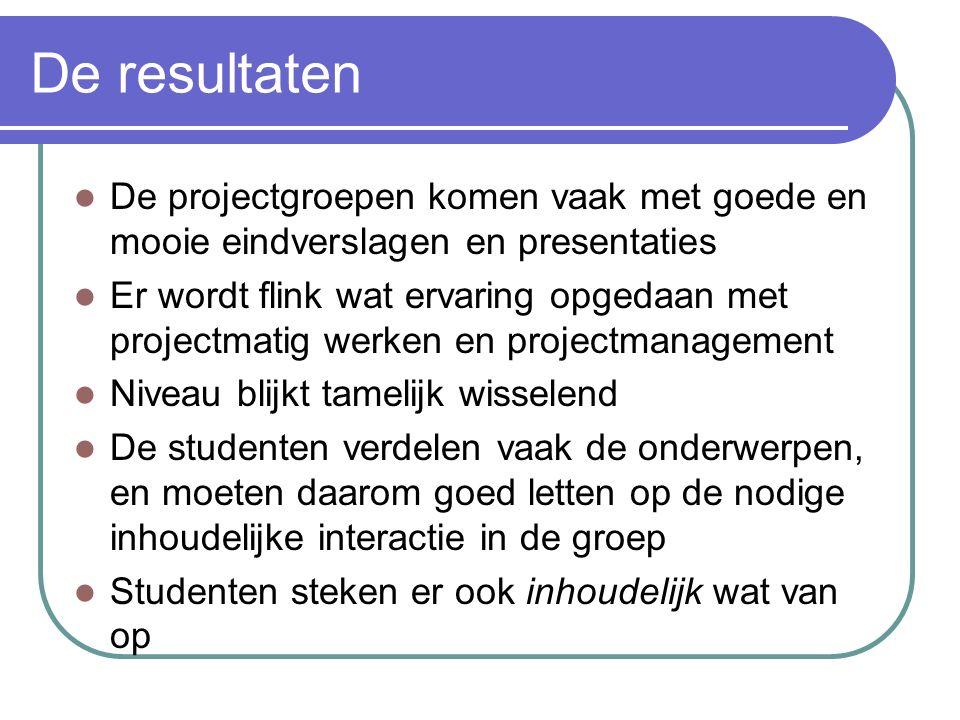 PRJ12 In de PRJ12-handleiding staan o.a. Een draaiboek (tijdschema) Wijze van beoordelen Hiernaast instructie over projectmatig werken volgens TGKIO c