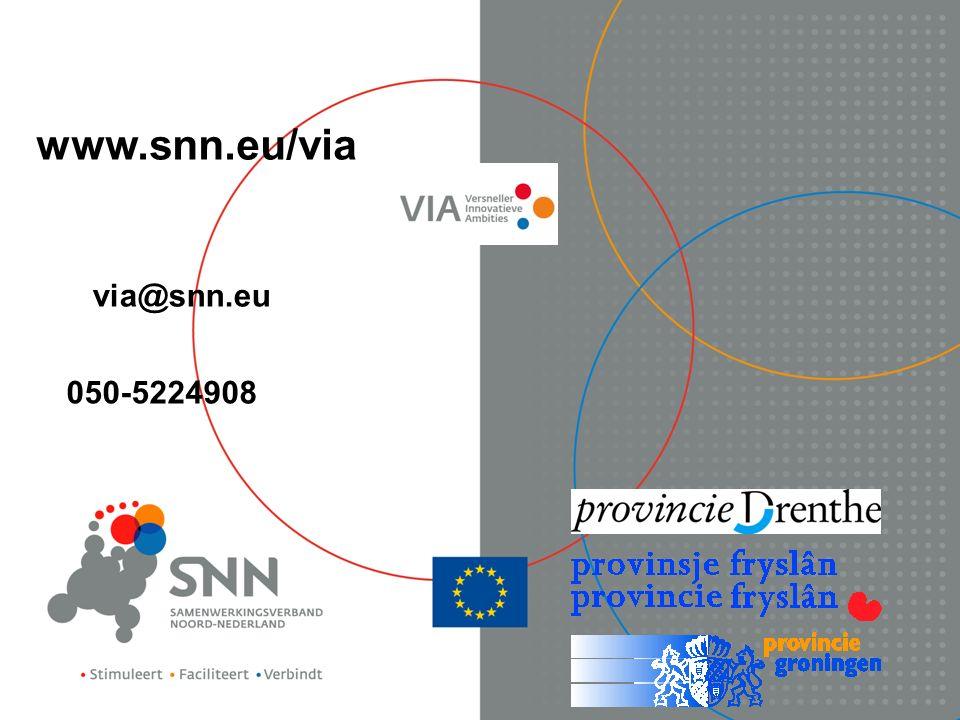 050-5224908 www.snn.eu/via via@snn.eu