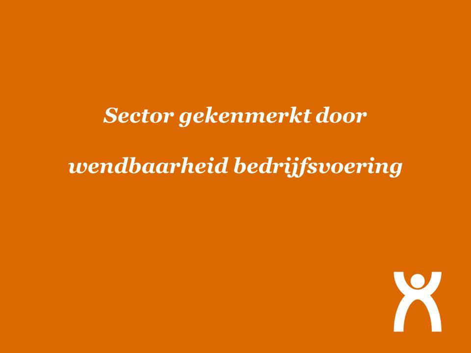 Sector gekenmerkt door wendbaarheid bedrijfsvoering
