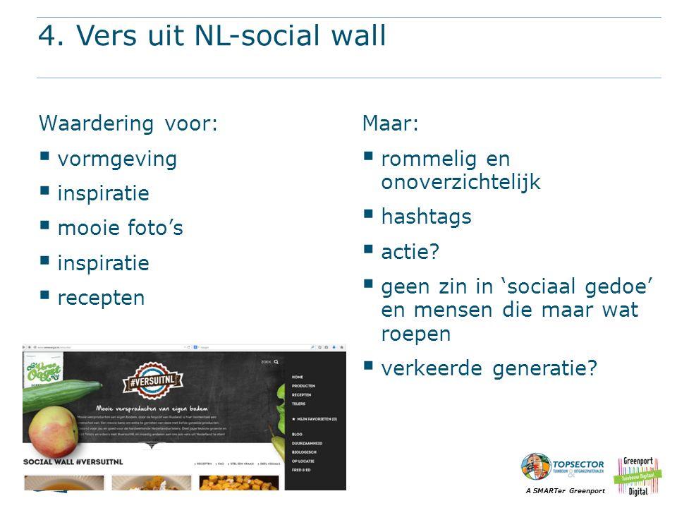 A SMARTer Greenport 4. Vers uit NL-social wall Waardering voor:  vormgeving  inspiratie  mooie foto's  inspiratie  recepten Maar:  rommelig en o