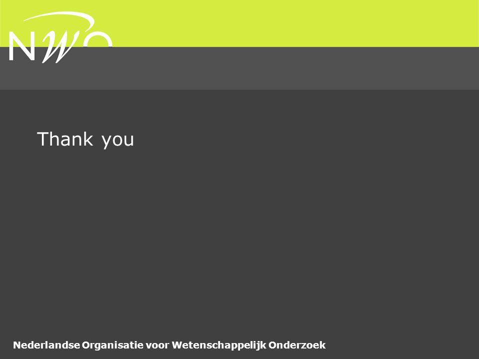 Nederlandse Organisatie voor Wetenschappelijk Onderzoek Thank you