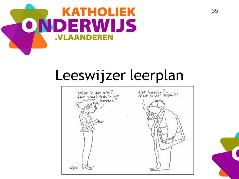Leeswijzer leerplan 35