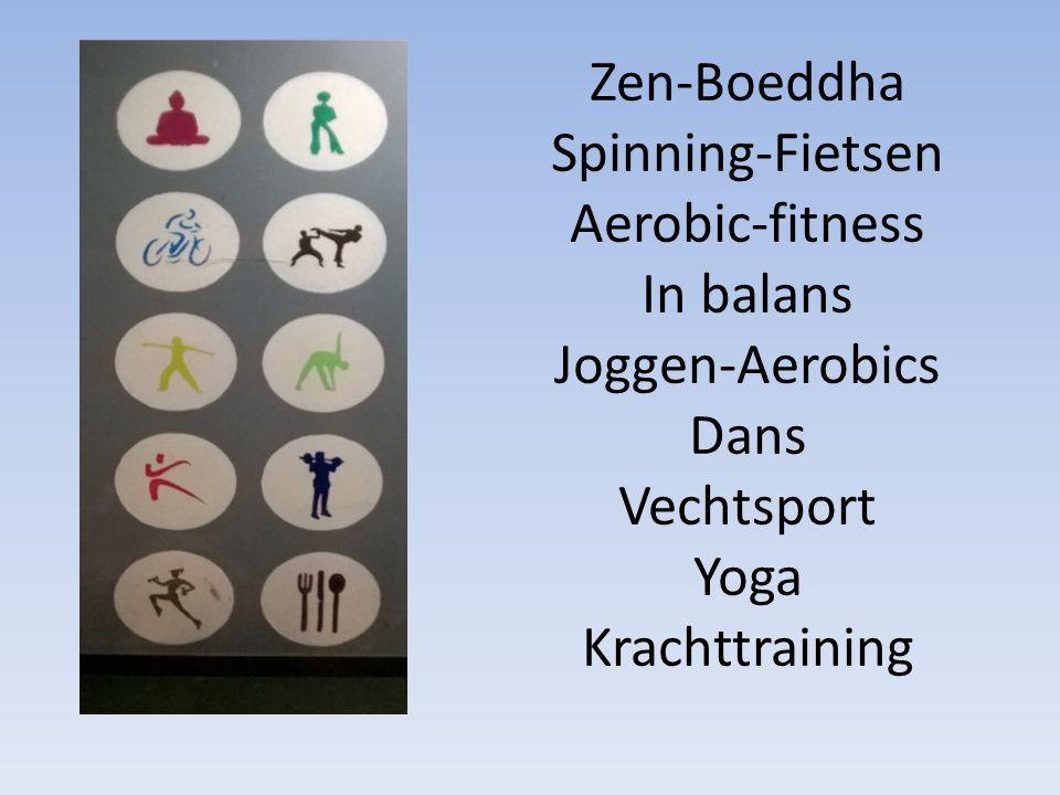 Zen-Boeddha Spinning-Fietsen Aerobic-fitness In balans Joggen-Aerobics Dans Vechtsport Yoga Krachttraining