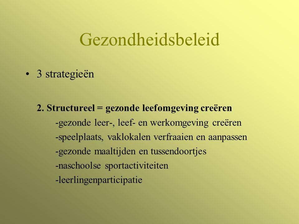 Gezondheidsbeleid 3 strategieën 2.