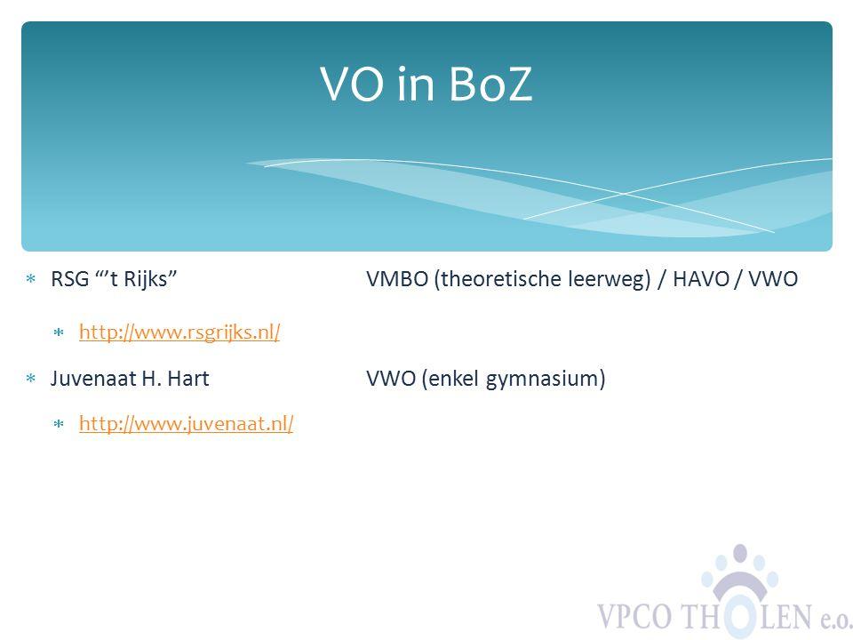 " RSG ""'t Rijks""VMBO (theoretische leerweg) / HAVO / VWO  http://www.rsgrijks.nl/ http://www.rsgrijks.nl/  Juvenaat H. HartVWO (enkel gymnasium)  h"