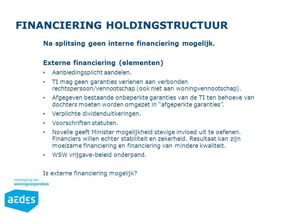 Opsomming Gebruik de knoppen op het Start-lint in de sectie 'Alinea'. FINANCIERING HOLDINGSTRUCTUUR Na splitsing geen interne financiering mogelijk. E