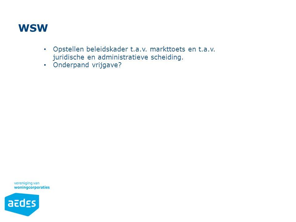 Opsomming Gebruik de knoppen op het Start-lint in de sectie 'Alinea'. WSW Opstellen beleidskader t.a.v. markttoets en t.a.v. juridische en administrat