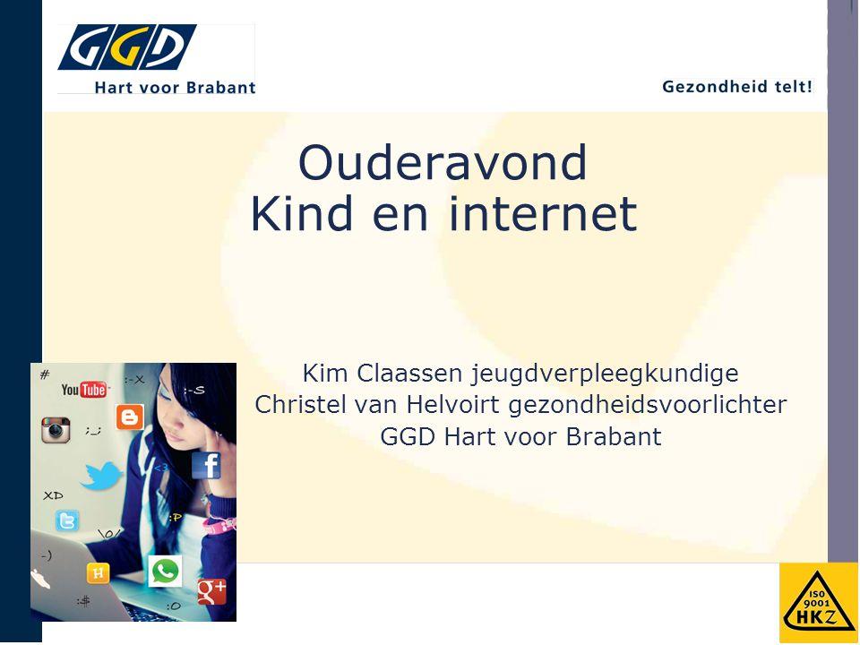 Ouderavond Kind en internet Kim Claassen jeugdverpleegkundige Christel van Helvoirt gezondheidsvoorlichter GGD Hart voor Brabant