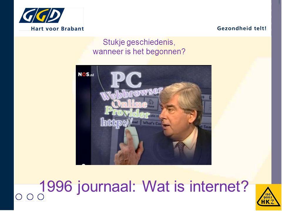 Stukje geschiedenis, wanneer is het begonnen? 1996 journaal: Wat is internet?