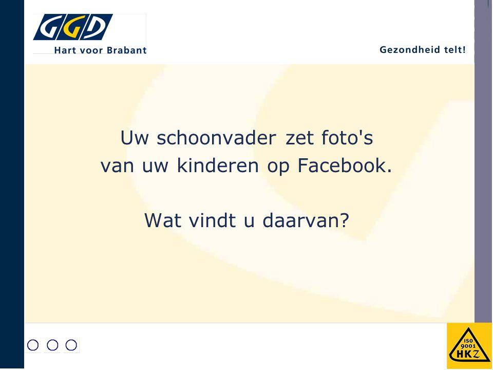Uw schoonvader zet foto's van uw kinderen op Facebook. Wat vindt u daarvan?