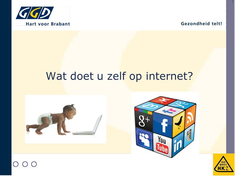 Wat doet u zelf op internet