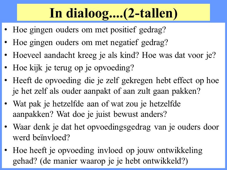 In dialoog....(2-tallen) Hoe gingen ouders om met positief gedrag.