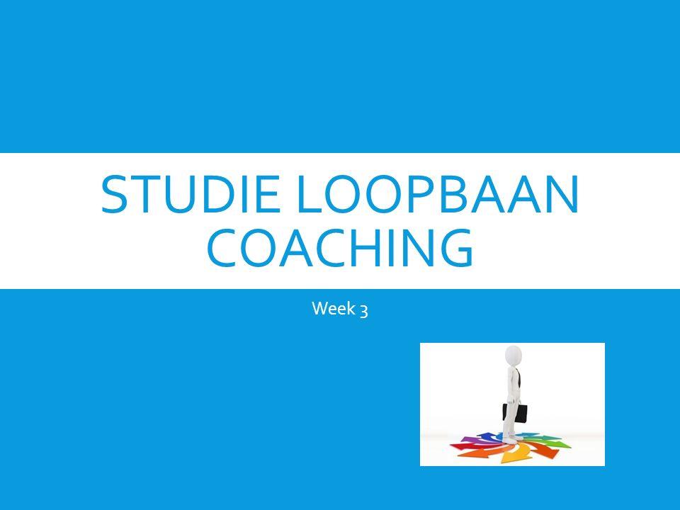 STUDIE LOOPBAAN COACHING Week 3