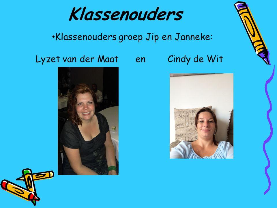 Klassenouders Klassenouders groep Jip en Janneke: Lyzet van der Maat en Cindy de Wit