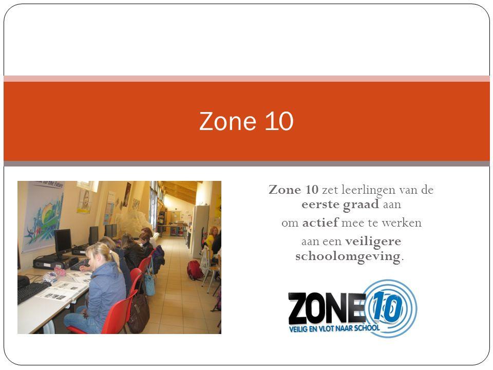 Zone 10 zet leerlingen van de eerste graad aan om actief mee te werken aan een veiligere schoolomgeving.