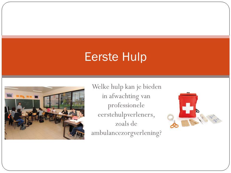 Welke hulp kan je bieden in afwachting van professionele eerstehulpverleners, zoals de ambulancezorgverlening.