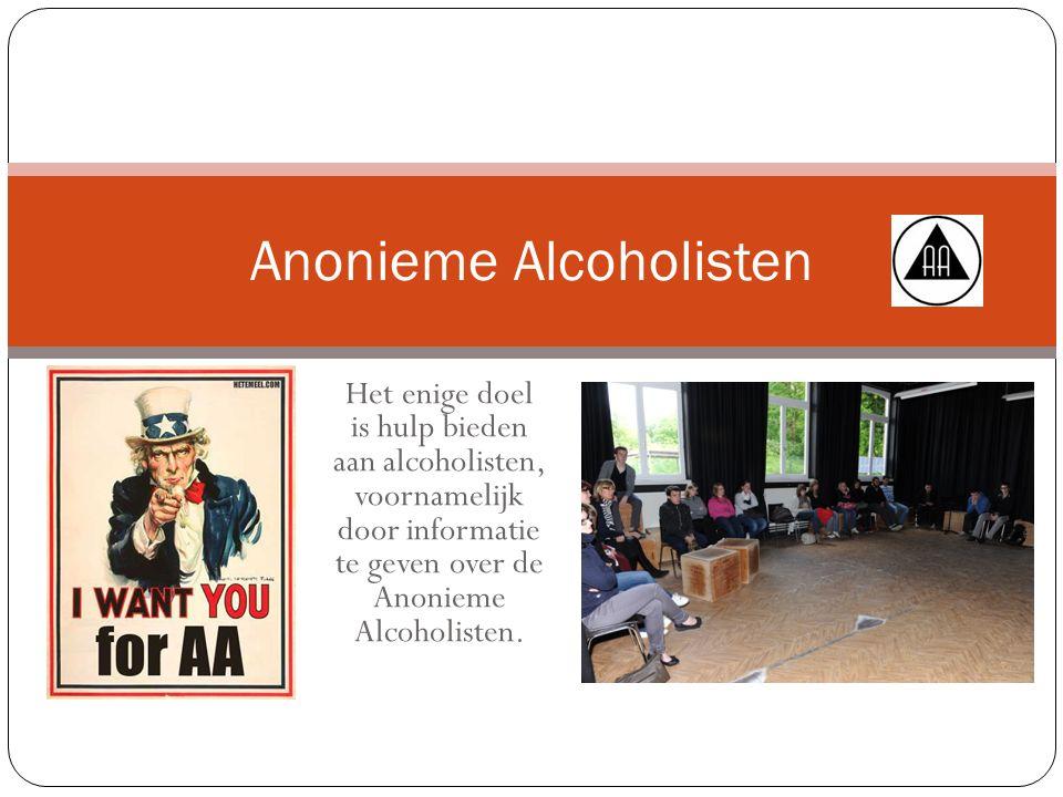 Het enige doel is hulp bieden aan alcoholisten, voornamelijk door informatie te geven over de Anonieme Alcoholisten.