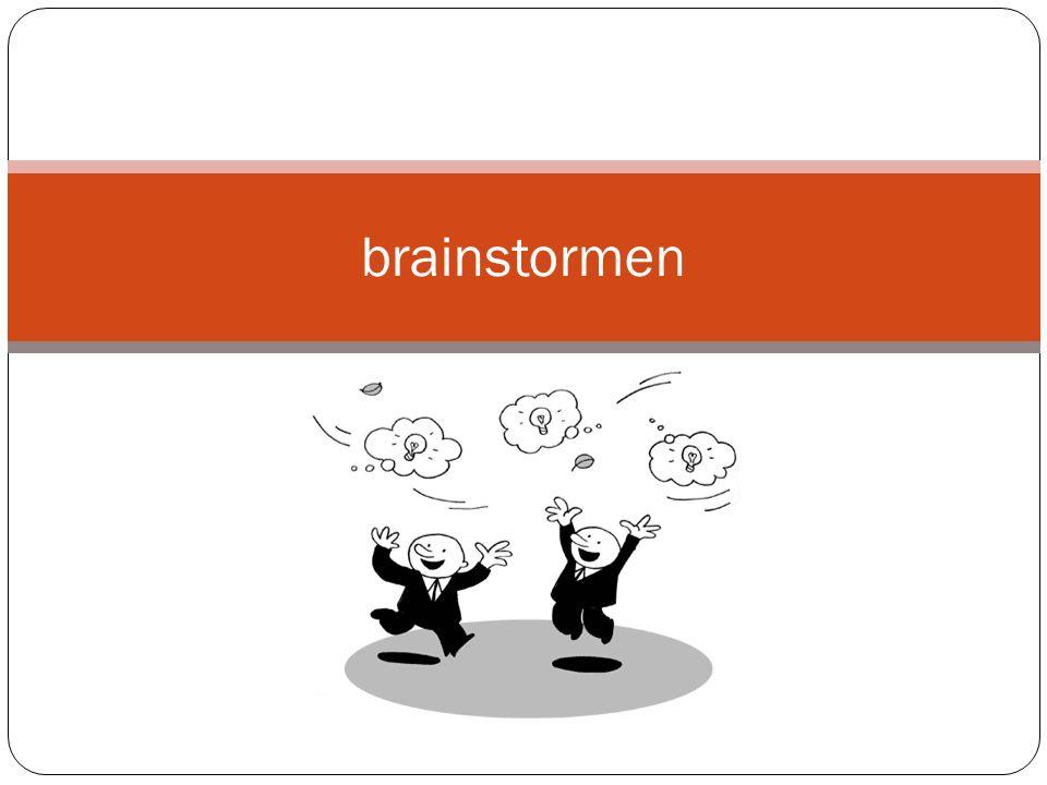 brainstormen