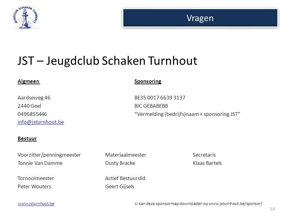 www.jsturnhout.bewww.jsturnhout.be U kan deze sponsormap downloaden op www.jsturnhout.be/sponsor/ Vragen JST – Jeugdclub Schaken Turnhout Algmeen Spon