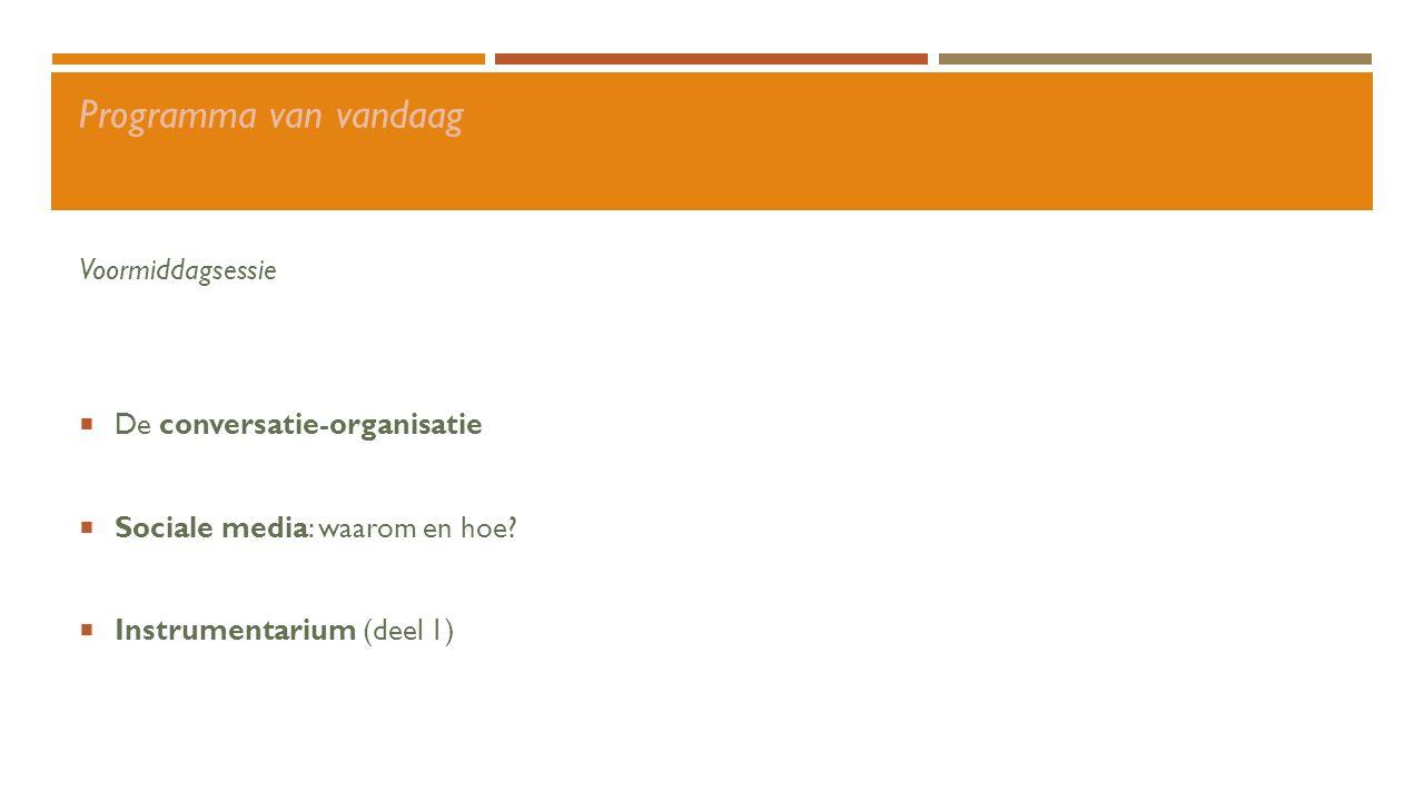 Conversatie-organisatie Sociale media Instrumentarium Wat met negatieve reacties.