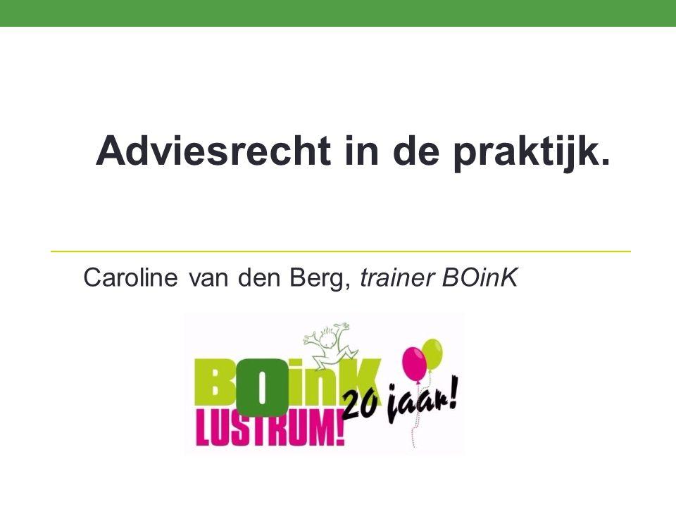 Adviesrecht in de praktijk. Caroline van den Berg, trainer BOinK