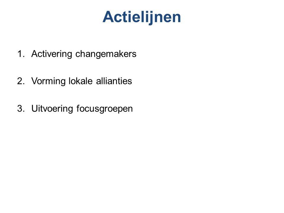 Activering Changemakers Vluchtelingen uit verschillende gemeenschappen in Nederland worden opgeleid tot Changemakers, en gaan aan de slag met de modules in een aantal gemeenschappen in Nederland.
