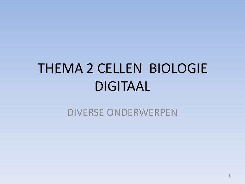 THEMA 2 CELLEN BIOLOGIE DIGITAAL DIVERSE ONDERWERPEN 1