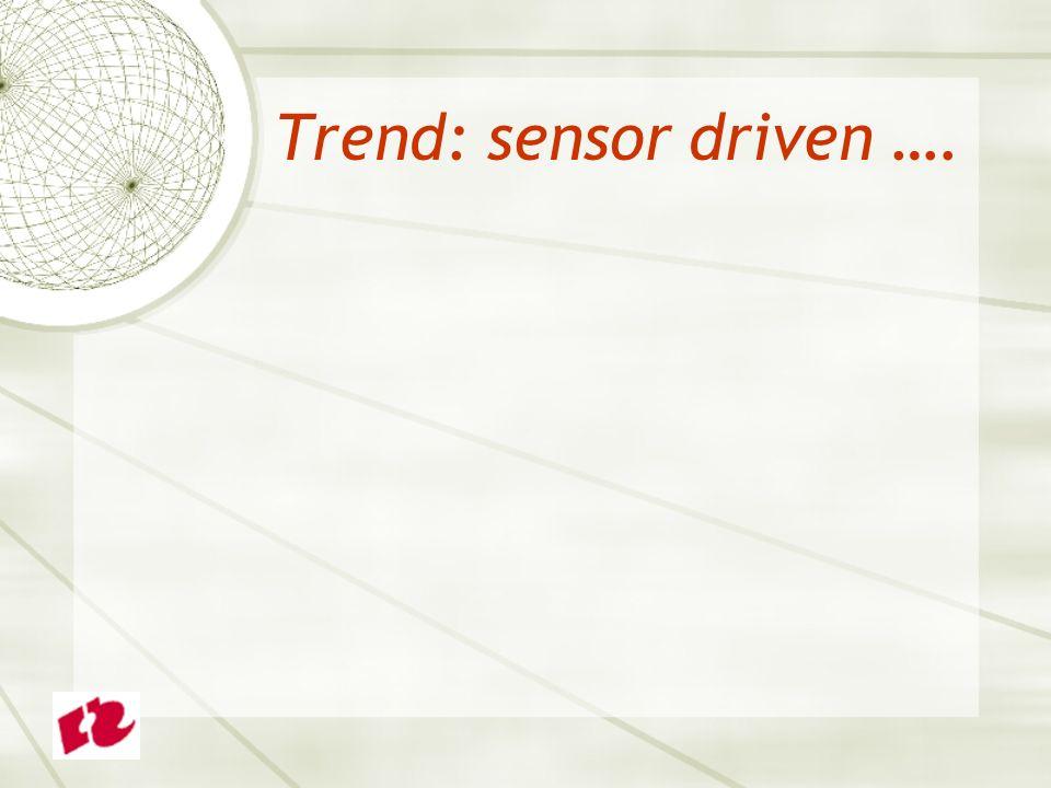 Trend: sensor driven ….