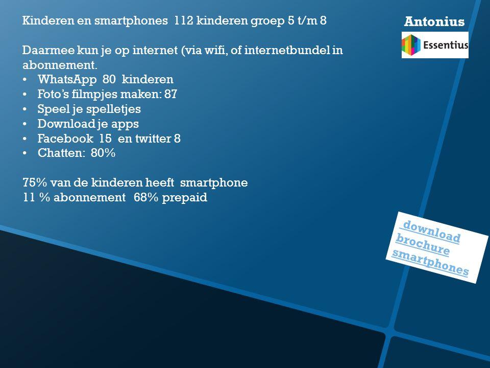 download brochure smartphones Kinderen en smartphones 112 kinderen groep 5 t/m 8 Daarmee kun je op internet (via wifi, of internetbundel in abonnement