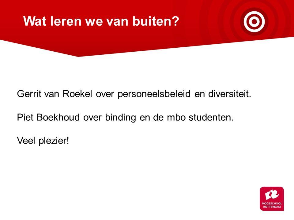 Wat leren we van buiten.Gerrit van Roekel over personeelsbeleid en diversiteit.