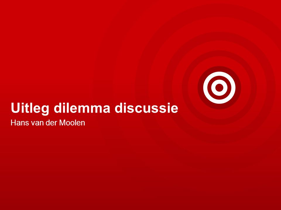 Uitleg dilemma discussie Hans van der Moolen