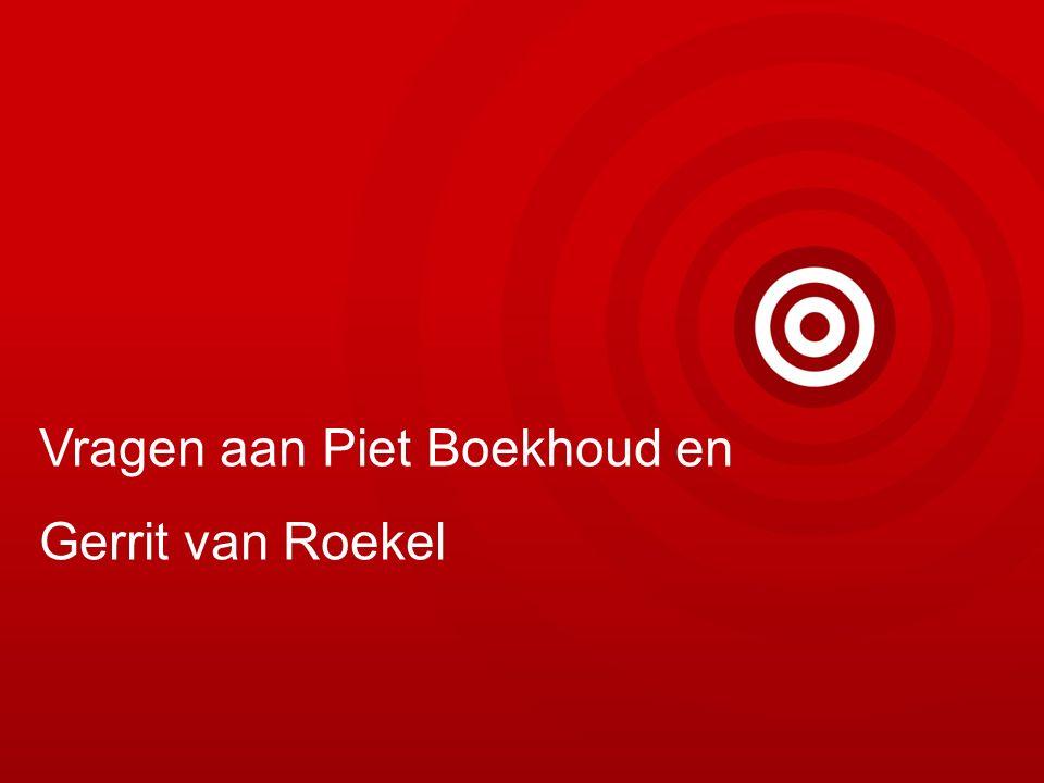 Vragen aan Piet Boekhoud en Gerrit van Roekel