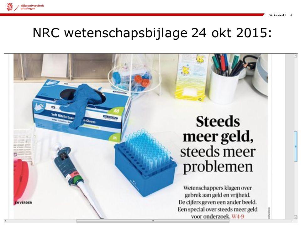 3|01-11-2015 NRC wetenschapsbijlage 24 okt 2015: