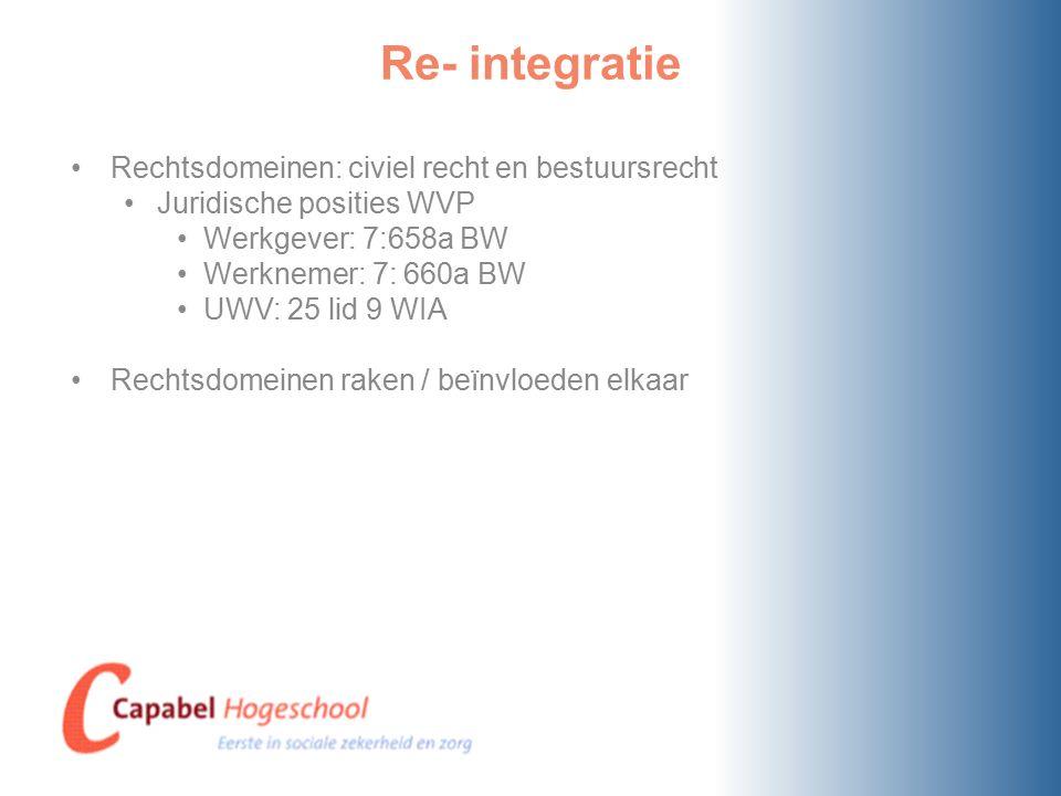 Consequenties voor de werkgever IV Doen van investeringen: Algemeen gebruikelijke investeringen Zo niet dan hangt af van wat redelijk is Duur/omvang dienstverband: Kantonrechter Den Bosch 24 mei 2012, ECLI: NL:RBSHE:2012:BW7246 Subsidie(s): Hoge Raad, 13 december 1991, ECLI:NL:HR:1991:ZC0448 (Goldsteen Roeland) Beleidsregels beoordelingskader poortwachter