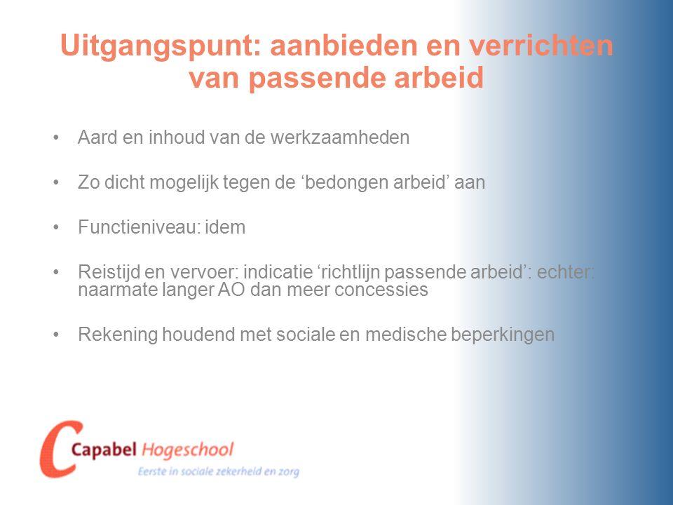 Consequenties voor de werkgever I Bieden van re-integratiefaciliteiten.
