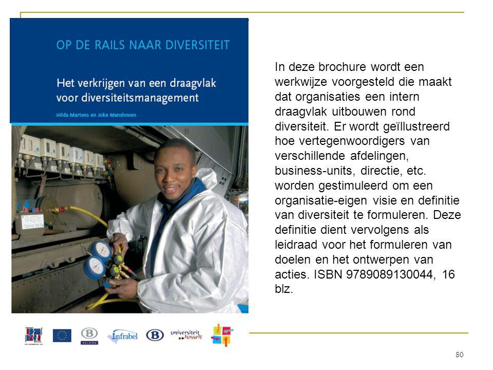 In deze brochure wordt een werkwijze voorgesteld die maakt dat organisaties een intern draagvlak uitbouwen rond diversiteit. Er wordt geïllustreerd ho