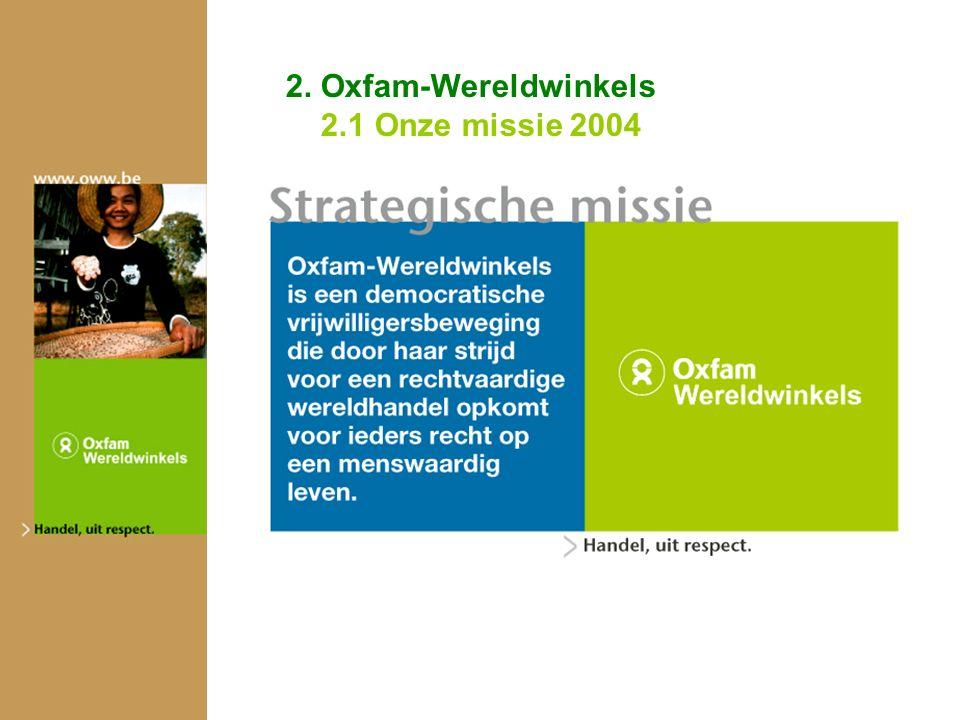2. Oxfam-Wereldwinkels 2.1 Onze missie 2004