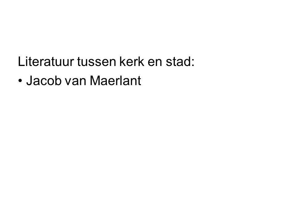 Literatuur tussen kerk en stad: Jacob van Maerlant