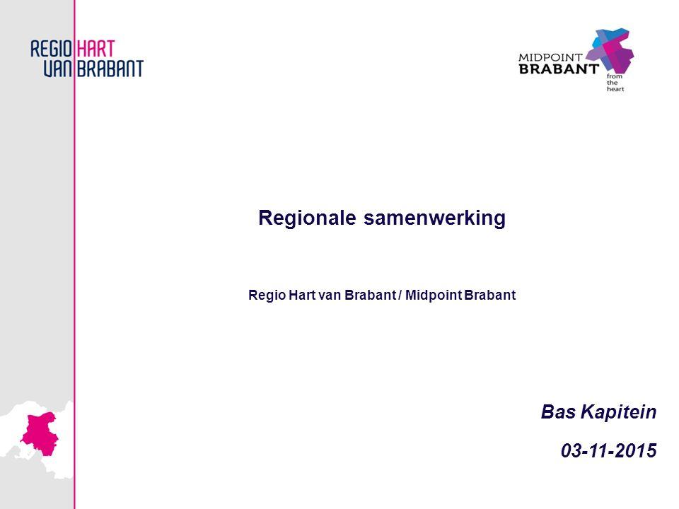 Regionale samenwerking Regio Hart van Brabant / Midpoint Brabant Bas Kapitein 03-11-2015