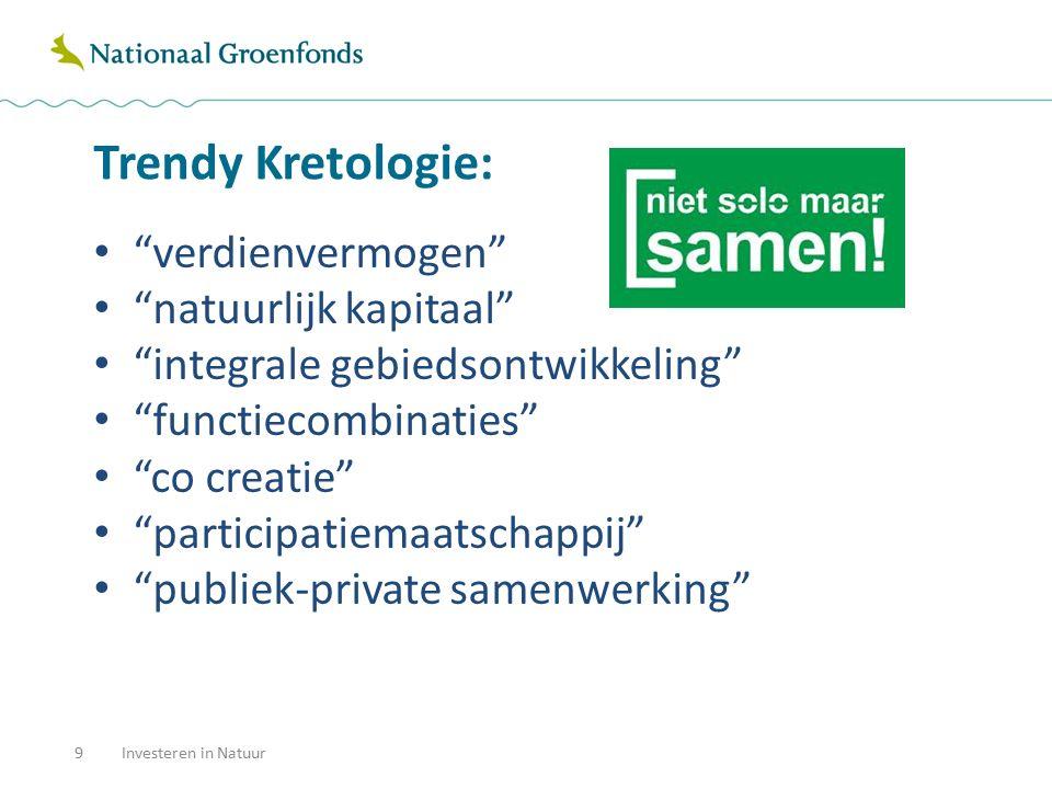 """Trendy Kretologie: 9Investeren in Natuur """"verdienvermogen"""" """"natuurlijk kapitaal"""" """"integrale gebiedsontwikkeling"""" """"functiecombinaties"""" """"co creatie"""" """"pa"""