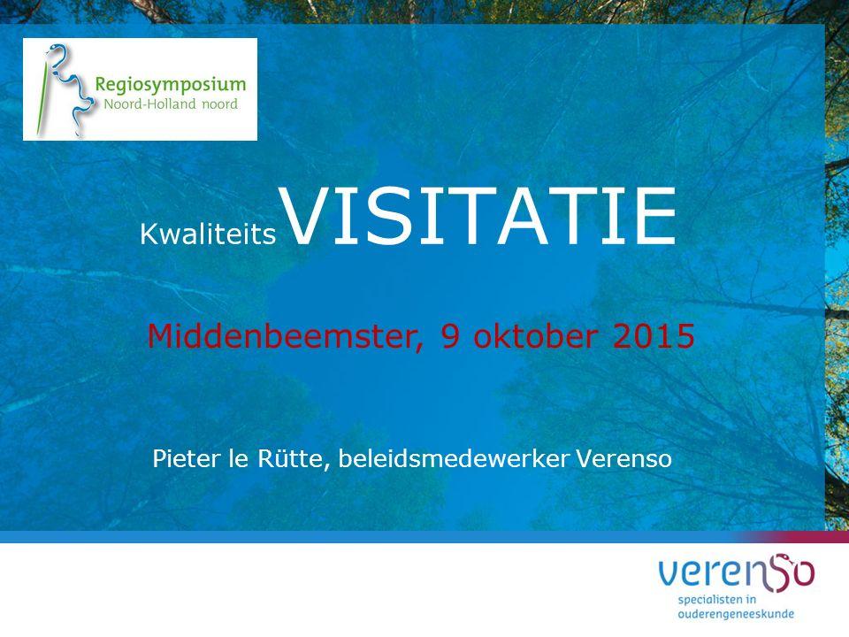 Pieter le Rütte, beleidsmedewerker Verenso Kwaliteits VISITATIE Middenbeemster, 9 oktober 2015