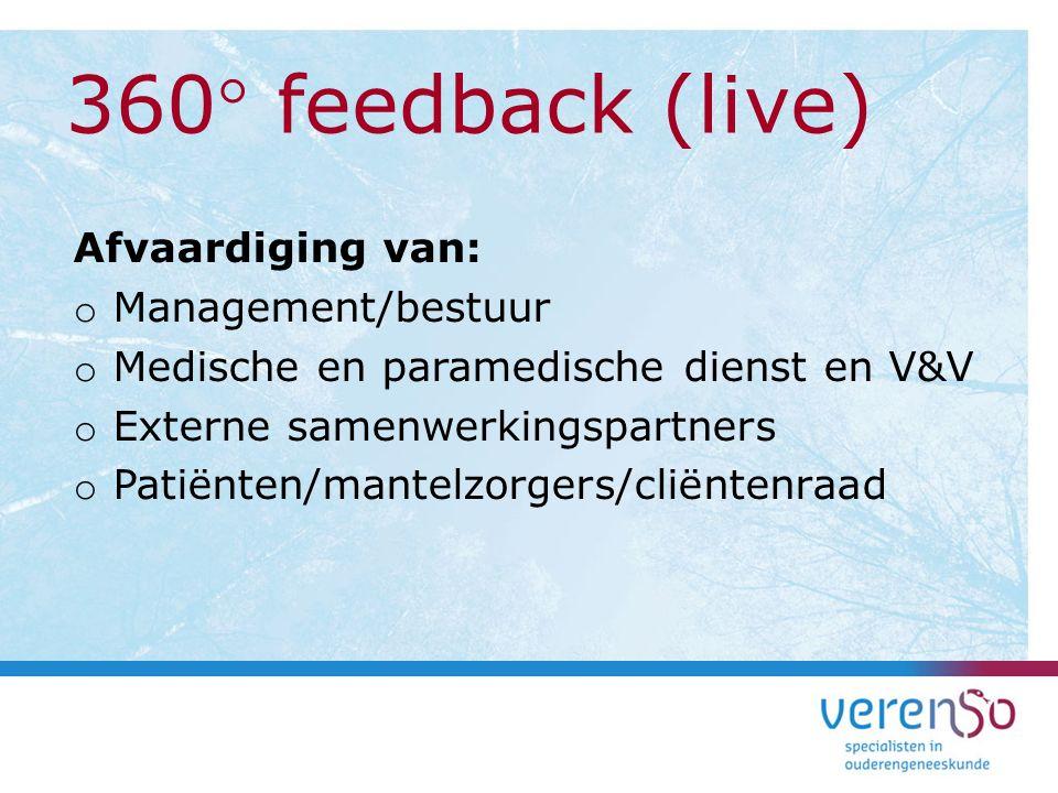 Afvaardiging van: o Management/bestuur o Medische en paramedische dienst en V&V o Externe samenwerkingspartners o Patiënten/mantelzorgers/cliëntenraad